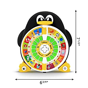 "Penguin ABC Learning Educational Toy with Electronic Learning Game by Boxiki Kids. Learning ABCs, Words, Spelling, Shapes, ""Where Is?"" Game, Kids' Favorite Songs"