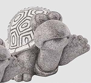 XL Tortuga Animales Figura Jardín Figura Figura Resina–L33cm