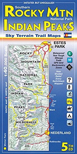 (Southern Rocky Mountain National Park & Indian Peaks Wilderness Trail Map, 4th Edition)
