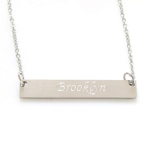 amazon com tina co 18k gold plated custom name necklace