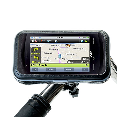 (Water Resistant Handlebar Holder Mounts the Acer NeoTouch S200 in Stable and Secure Method)