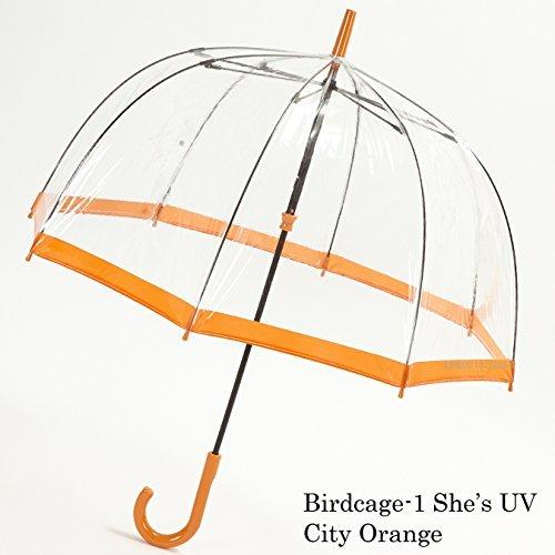 フルトン FULTON バードケージ Birdcage UV カット 紫外線カット L783 City Orange ビニール傘 正規品 fultonl783orange B019EYWY7Y