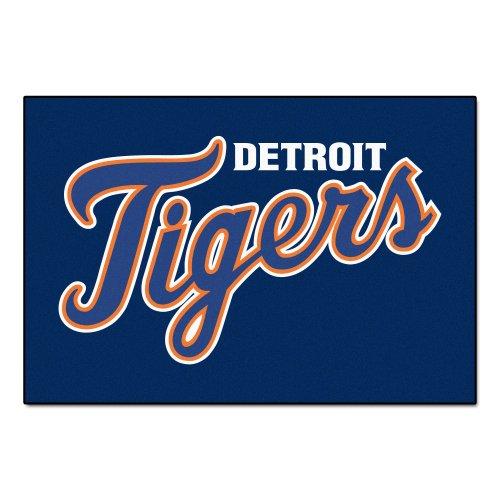 (FANMATS MLB Detroit Tigers Nylon Face Starter Rug)
