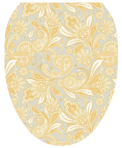 Toilet Tattoos TT-1034-O Antique Gold Paisley Design Toilet