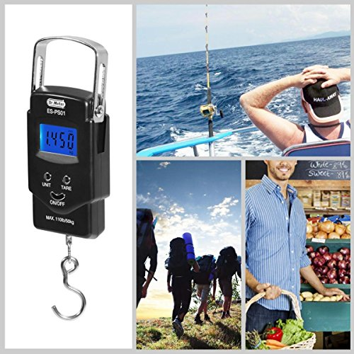 Backlit-LCD-DisplayDrmeter-PS01-110lb50kg-Electronic-Balance-Digital-Fishing-Postal-Hanging-Hook-Scale-with-Measuring-Tape-2-AAA-Batteries-Included