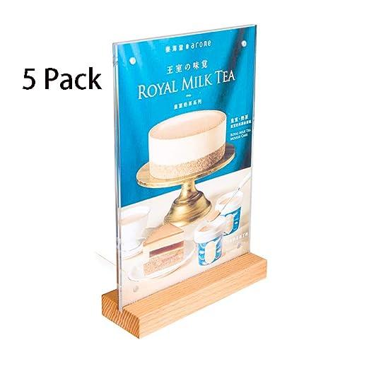 Soporte de sobremesa a4 Acrílico de Madera Tarjeta de Mesa ...