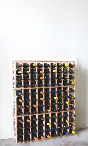 Wine Storage Rack Designer Collections 108-Bottle 9-Column 12-Row