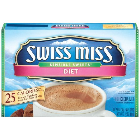 Swiss Miss Sensible Sweets Light Hot Cocoa Mix, 8-Count (Pack of 4)