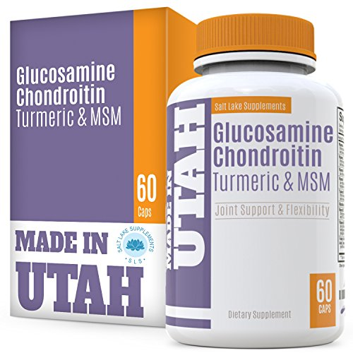 Glucosamine Chondroitin Turmeric MSM - All Natural Joint Support, Anti-Inflammatory And Antioxidant for Aches, Soreness & Inflammation - Promotes Healthy Joint Functions