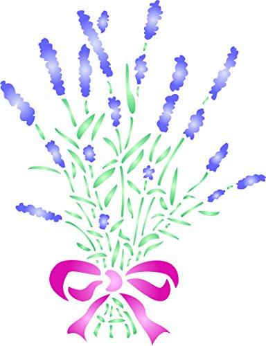 Lavender Stencil - (size 6.5