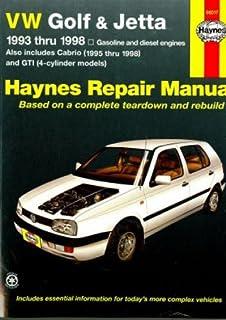 h96017 haynes vw golf gti jetta 1993-1998 vw cabrio 1995-2002 auto repair