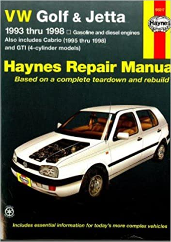 H96017 Haynes Vw Golf Gti Jetta 1993 1998 Vw Cabrio 1995 2002 Auto