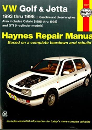 h96017 haynes vw golf gti jetta 1993 1998 vw cabrio 1995 2002 auto rh amazon com vw golf 3 workshop manual free download vw golf 3 service manual pdf