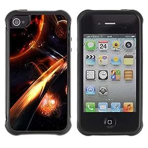 Suave TPU GEL Carcasa Funda Silicona Blando Estuche Caso de protección (para) Apple Iphone 4 / 4S / CECELL Phone case / / Apocalypse Fire Galaxy Space Cosmos Planet /