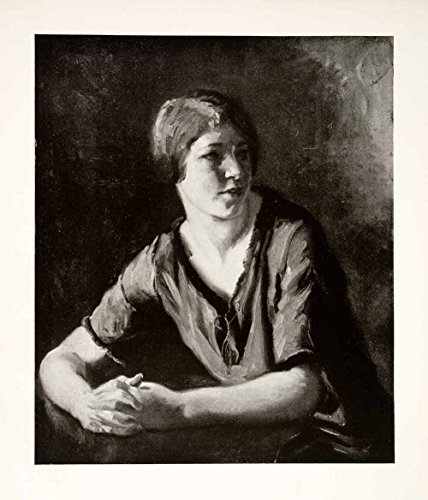 1927-print-italian-girl-albert-sterner-american-painter-etcher-lithographer-art-original-halftone-pr