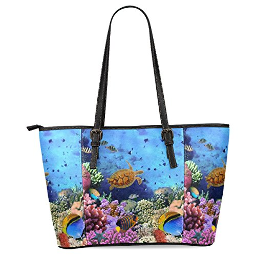 interestprint-summer-underwater-world-fish-sea-turtle-womens-leather-tote-bags-handbags