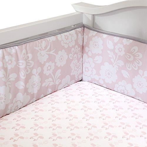 Lambs-Ivy-Swan-Lake-Crib-Bumper-PinkWhiteGrey