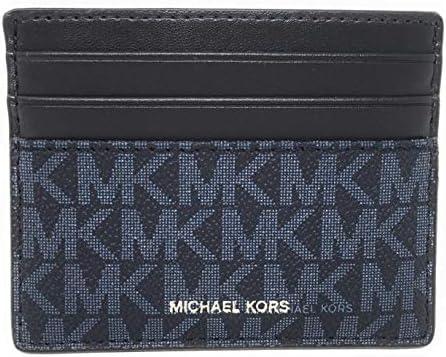 Michael Kors Men's Cooper Tall Card Case Wallet (Admiral Blue)