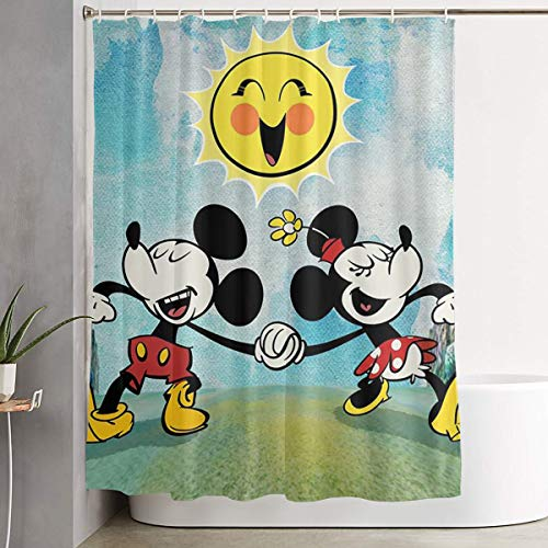 WSXEDC Shower Curtain Cartoon Mickey Mouse Waterproof Curtain 60 X 72 - Shower Curtain Mickey