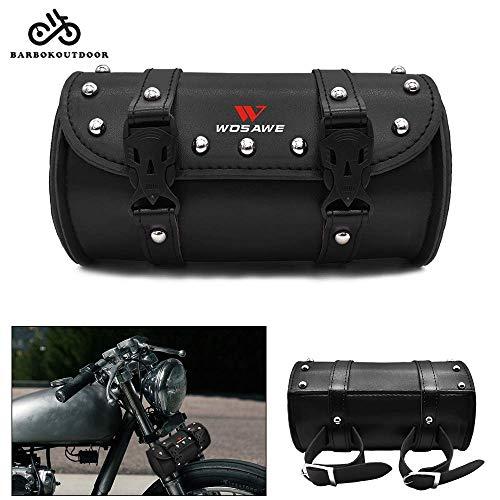 Waterproof Motorcycle Tool Bag Front Handlebar PU Leather Saddle Bag Tail Bag