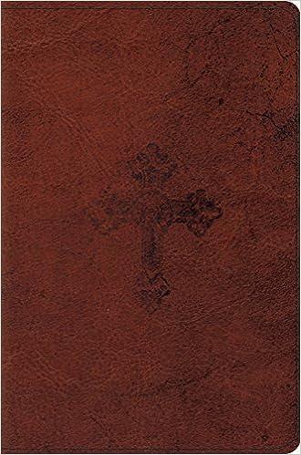 Esv Compact Bible Trutone Walnut Weathered Cross Design Esv