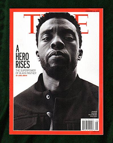 Time Magazine (February 19, 2018) Black Panther Chadwick Boseman Cover