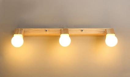 Plafoniere Da Parete In Legno : Lampada da parete a luce radente in alluminio e legno klas
