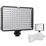 SAMTIAN LED Camera Light, 160 LEDs Dimmable Ultra High Power Photography Panel Lighting in Canon, Nikon, Pentax, Panasonic, Sony, Samsung and Olympus Digital SLR Cameras (Battery Not Included)