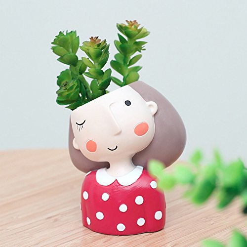 - Succulent Plant Pot Cute Girl Flower Planter Flowerpot Create Design Lovely Little Princess Home Garden Bonsai Pots