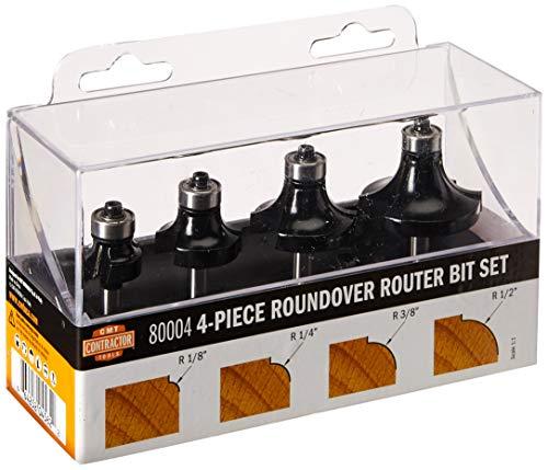 - CMT 80004 4Piece Roundover Router Bit Set 1/4