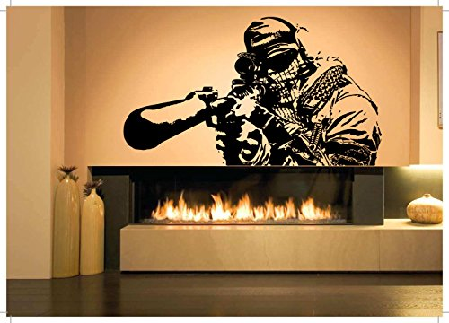 Wall Room Decor Art Vinyl Sticker Mural Decal OPS Soldier Shooter Sniper Big Large - Sniper Shooters