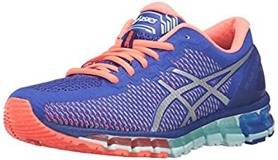 ASICS Women's Gel-Quantum 360 cm Running Shoe, Asics Blue/White/Flash Coral, 5.5 M US