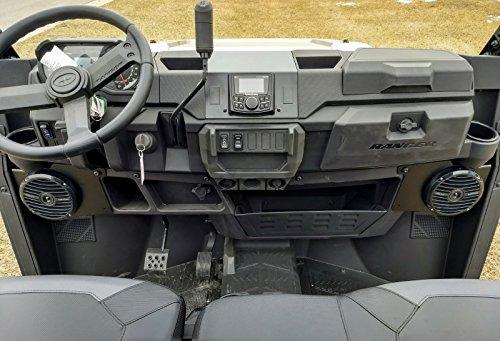 Way Speakers 52 2 Marine (2018 Polaris Ranger XP 1000/2019 XP 1000 Crew Dash Mount Audio Radio Kit - Rockford PMX-2 - Rockford RM0652B 6 1/2