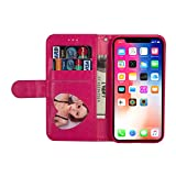 iPhone X Sleeve with Card Holder,INorton Premium Leather Full-Body Protective Wallet Cover,Lightweight Stand Smart Shockproof Sleeve for 5.8 inch iPhone X/XS