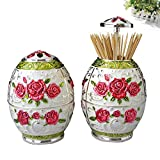 Wang's European-style pressing style toothpick automatic toothpick box fashion creative living room toothpick barrel-J