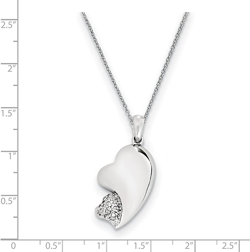 925 Sterling Silver 18 Inch Cubic Zirconia Cz Chain Necklace Pendant Charm Fine Jewelry Gifts For Women For Her