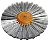 Steel Wire Brush Strands .003'' X 6'' Diameter Straight 2 Row