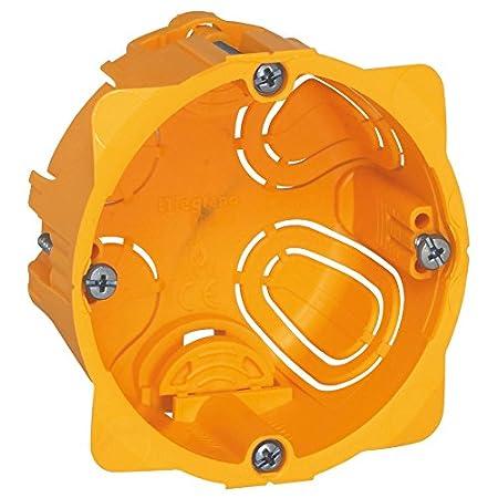 Legrand LEG90544 - Caja de empotramiento (4 postes Batibox, panel de yeso de 40 mm)