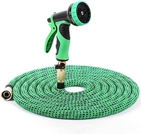 CHUYU Expandable Garden Water Hose Flexible Watering hoses High Pressure Car Wash Plastic Spray Gun Water Pipe Hook Lawn for Garden,hose set,25FT