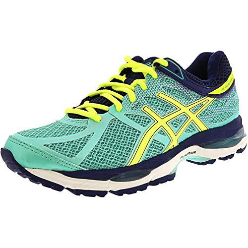 ASICS Women's Gel-cumulus 17 Running Shoe, Aqua Mint/Flash Yellow/Navy, 6.5 2A US