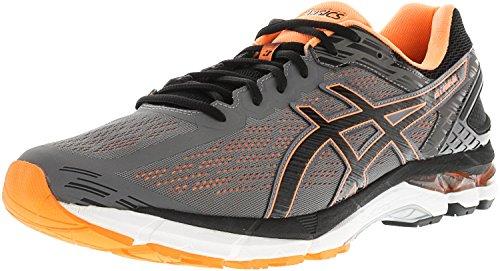 Asics Men's Gel-Pursue 3 Carbon/Black Hot Orange Ankle-High Fabric Running Shoe - 12.5WW