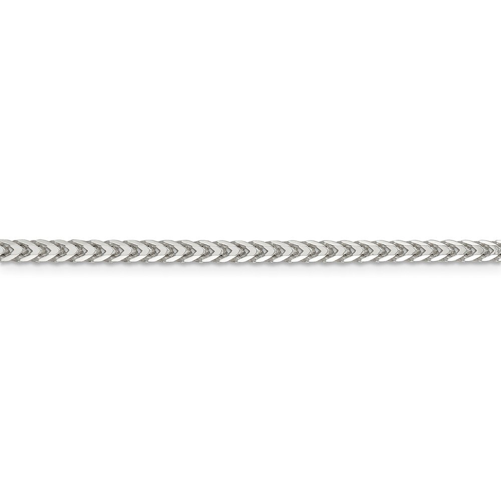 925 Sterling Silver 3.4mm Square Franco Chain Necklace