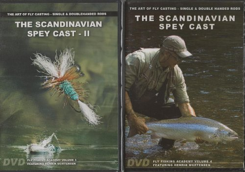 Scandinavian Spey Cast Vol 1 & 2 by Henrik Mortensen - Art of Fly Casting Single/Double Handed Rods - 3 Hours - 2 DVD Set