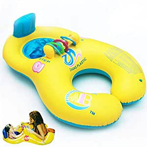 Inflatable Toy Mother Baby Swim Float Raft