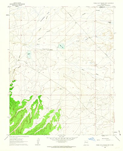 New Mexico Maps | 1960 Pueblo Alto Trading Post, NM USGS Historical Topographic Map | Cartography Wall Art | 35in x 44in