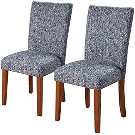 Kinfine Parsons Upholstered Accent Dining Chair Set Of 2 Navy