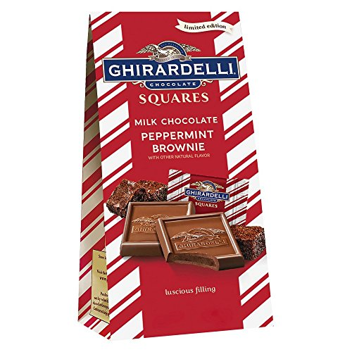 Peppermint Brownie - Ghirardelli Holiday Peppermint Bark Brownie Squares Bag 5.1oz.