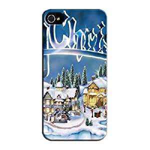 TPU Other Christmas Town For Iphone 5/5s Tear-resistant Navy Protective Case
