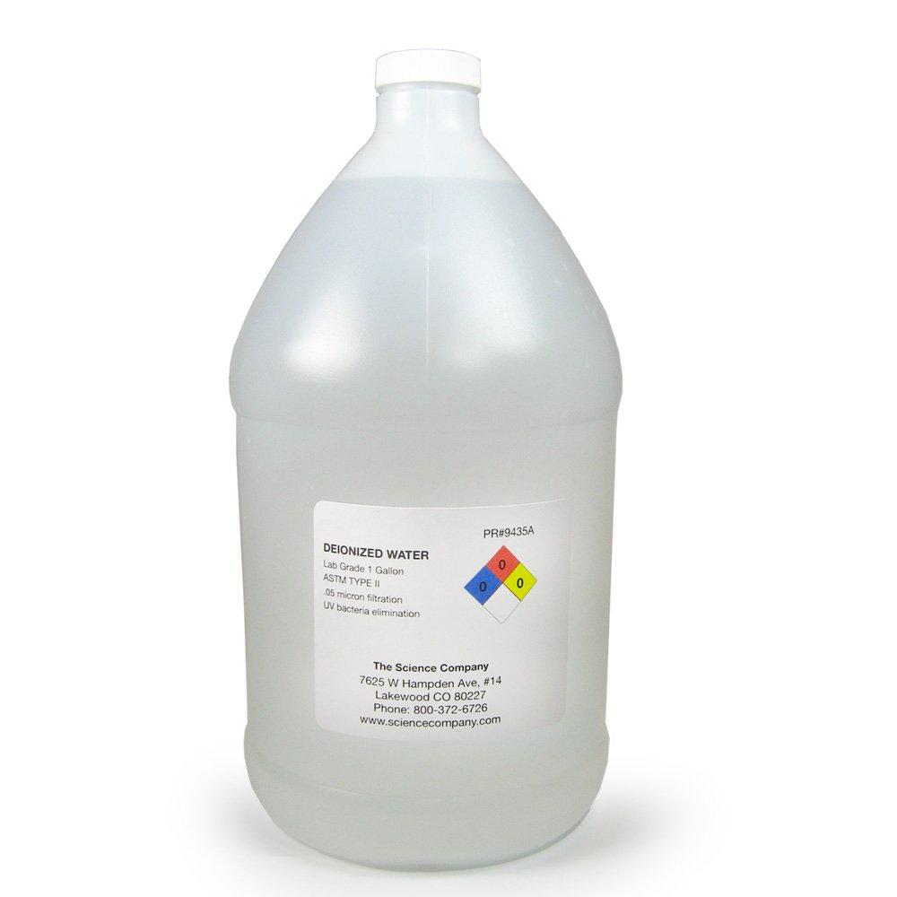 The Science Company, NC-3064, Deionized Water, 1gal