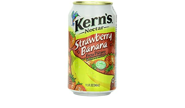 Amazon.com : Kerns Strawberry Banana, 11.5-Ounce (Pack of 24) : Fruit Juices : Grocery & Gourmet Food